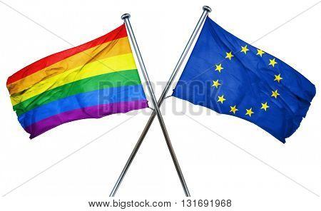 Afghanistan flag  combined with european union flag
