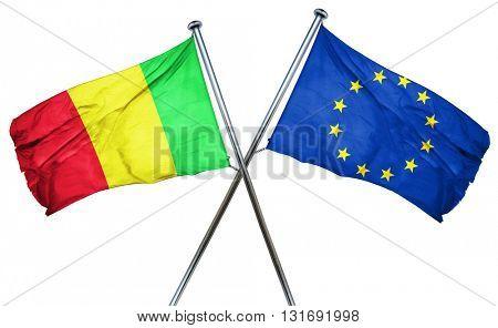 Mali flag  combined with european union flag