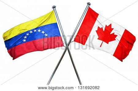 Venezuela flag  combined with canada flag