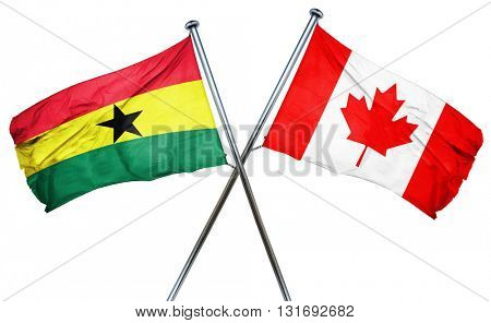 Ghana flag  combined with canada flag