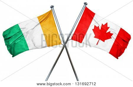 Ivory coast flag  combined with canada flag