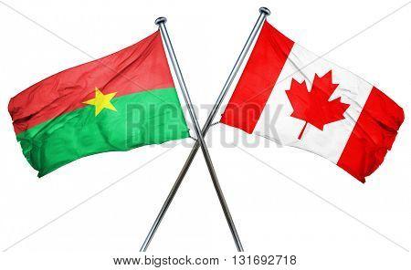 Burkina Faso flag  combined with canada flag