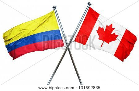 Colombia flag  combined with canada flag