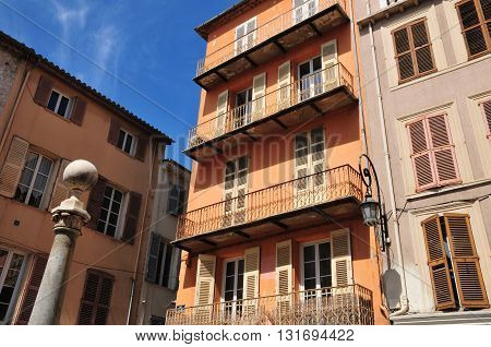 Antibes France - april 15 2016 : the picturesque old city in spring