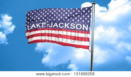 lake jackson, 3D rendering, city flag with stars and stripes