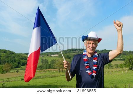 French soccer fan from les bleus in France