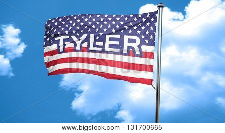 tyler, 3D rendering, city flag with stars and stripes