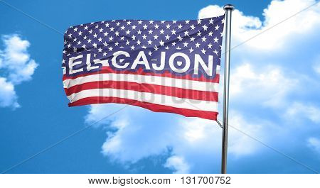 el cajon, 3D rendering, city flag with stars and stripes