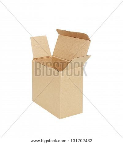 The cardboard box isolated on white background