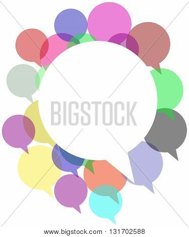 Colorful Speech Bubble Copy space text messaging