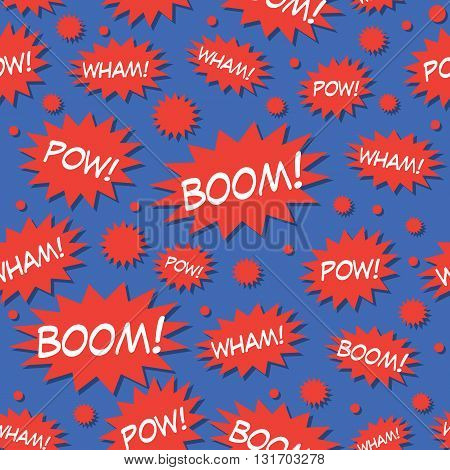 Comic Book Speech Bubbles Seamless Pattern Vector Illustration. EPS 10