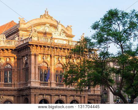 CATANIA, ITALY - JULY 9 2015: The opera theater of Catania, named
