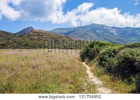 Mediterranean Summer Landscape With Mountains Zakynthos Island Greece