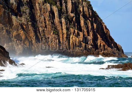 Rugged, rocky cliffs on the New South Wales coast, Australia