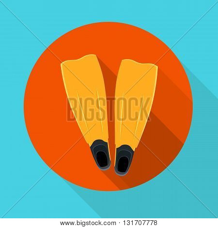 vector illustration flippers for snorkeling and scuba diving