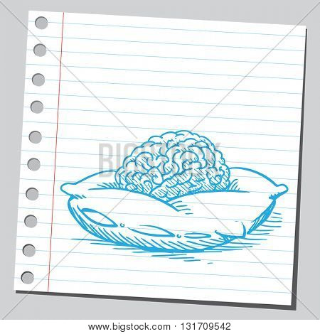 Brain on pillow