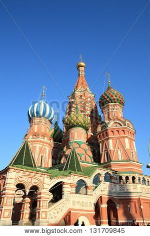 image of many blessed Basil cathedral at day
