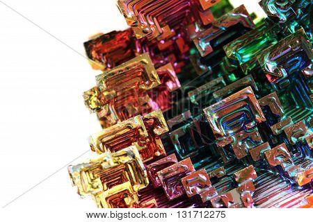 Bismuth - Rainbow Metal Background
