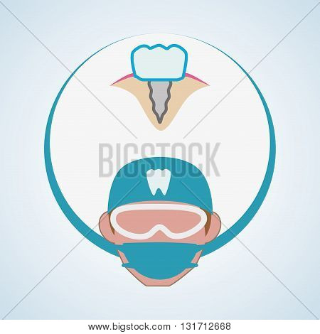 Dental care concept with icon design, vector illustration 10 eps graphic.