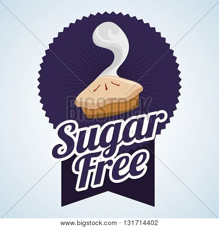 Sugar free  concept with icon design, vector illustration 10 eps graphic.