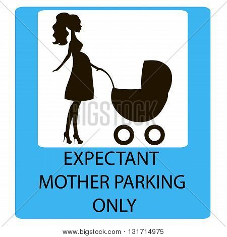 parking sign for women with children EXPECTANT MOTHER PARKING ONLY information icon