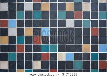 mosaic tiles on the facade of a house