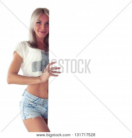 Sportswoman With Poster