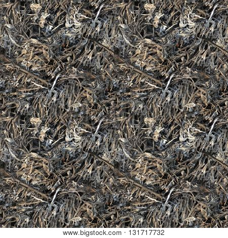 Seamless pattern of burning the dry grass texture background for print or website design