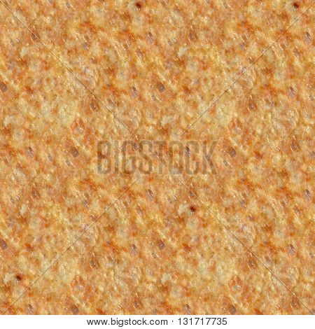 Seamless pattern of melted toasted cheese for printing or design without seams