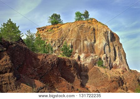 abandoned quarry in volcanic stone Racos Romania
