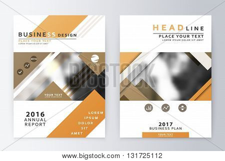 Ready design annual report business finance. Leaflets and cover A4 presentation layout.