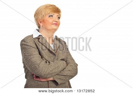 Middle Aged Executive Woman Looking Away