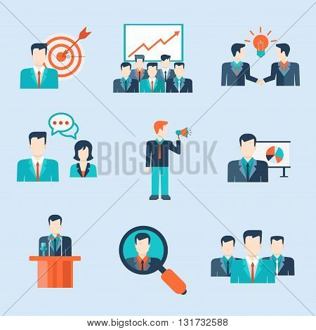 People icons business man situations web template
