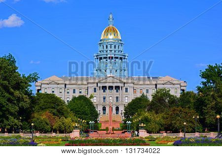 Colorado State Capitol Building on a Sunny Day