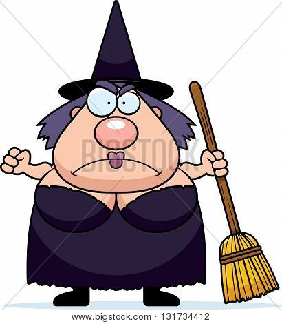 Cartoon Witch Angry
