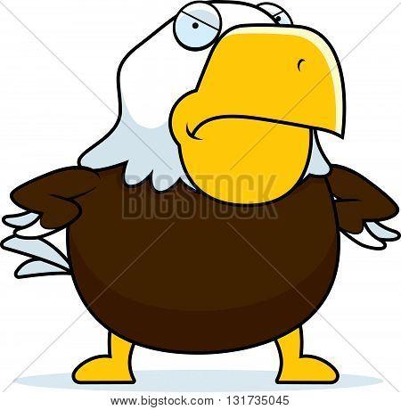 Angry Cartoon Bald Eagle