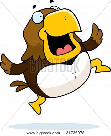 Cartoon Hawk Jumping