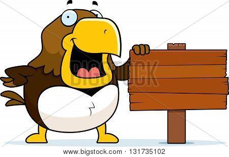 Cartoon Hawk Sign