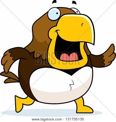 Cartoon Hawk Walking