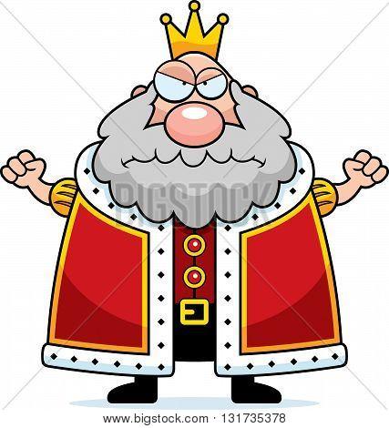 Cartoon King Angry