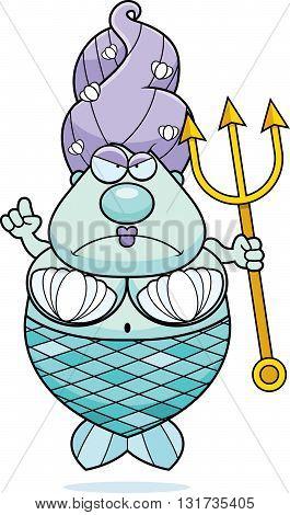 Cartoon Mermaid Angry