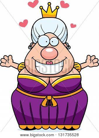 Cartoon Queen Hug