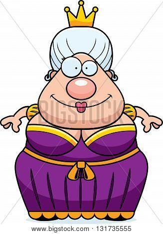 Cartoon Queen Smiling