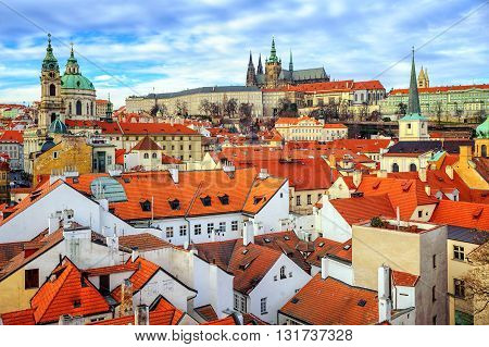 The Castle And Old Town Of Prague, Czech Republic