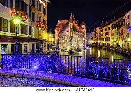 Medieval Castle Palais De L'isle In Annecy, Savoy, France
