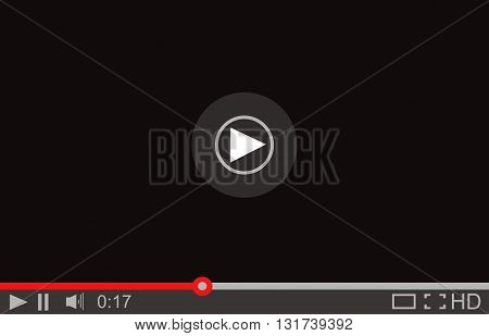 Media Player Interface. Vector Video Player Illustration.