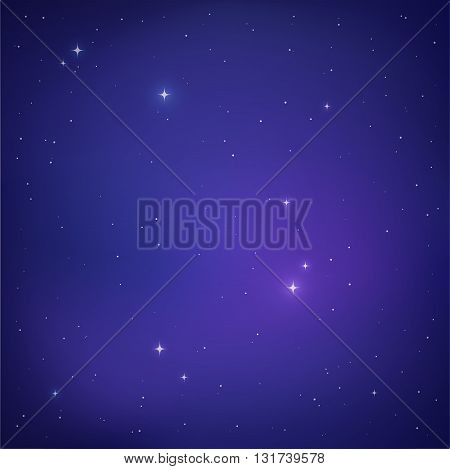 Abstract outer space background. Night sky with stars Milky Way galaxy vector illustration.