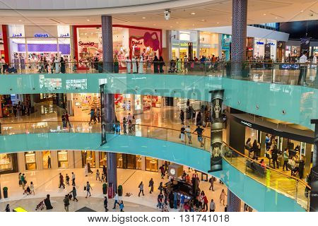 People Shopping On Dubai Mall Store Center