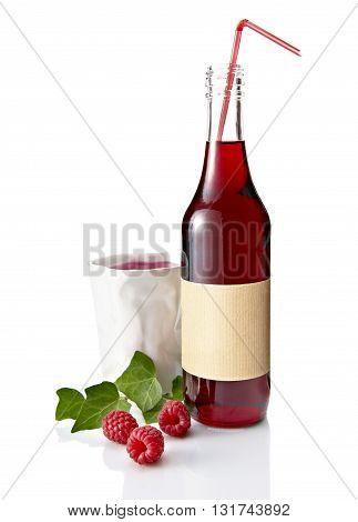 Bottle Of Raspberry Juice