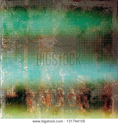Grunge old texture used as abstract vintage style background. With different color patterns: yellow (beige); brown; green; blue; red (orange)